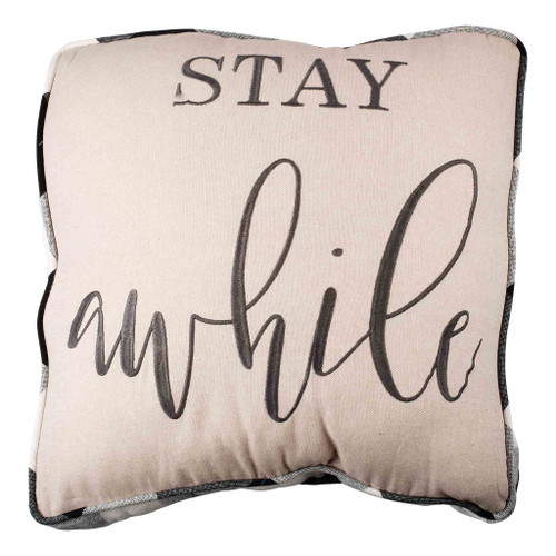Stay Awhile Square Pillow