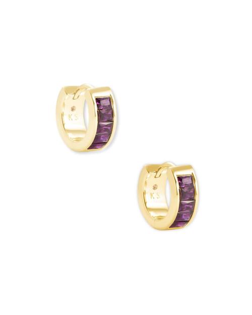Purple Jack Huggie Earring