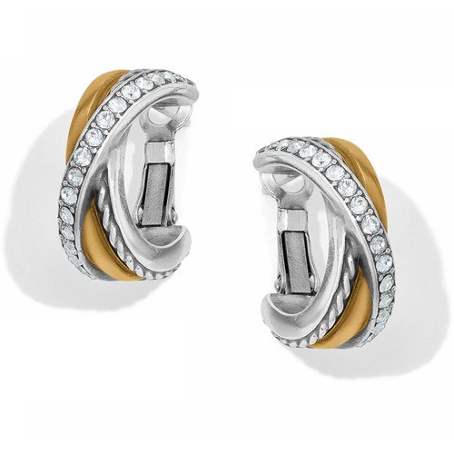 2 Tone Neptune's Rings Post Earrings