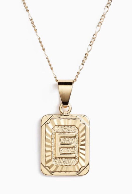 Initial Card X Gold Filled Necklace