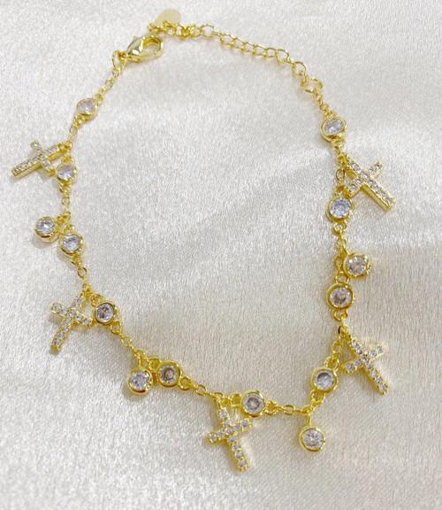 Abundant Cross Bracelet