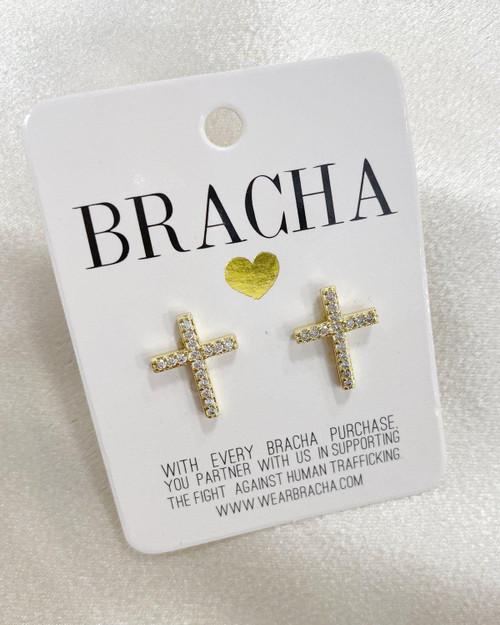 Abundant Cross Earrings