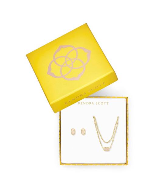 Emilie Gold Iridecsent Gift Set