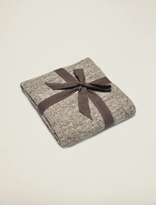Graphite Heathered Cable Blanket