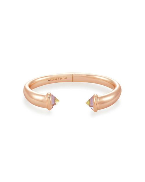 Jolie Cuff Bracelet Rosegold Dichroic Glass