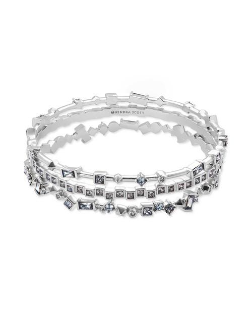 Malia Bracelet Rhod Gray Crystal