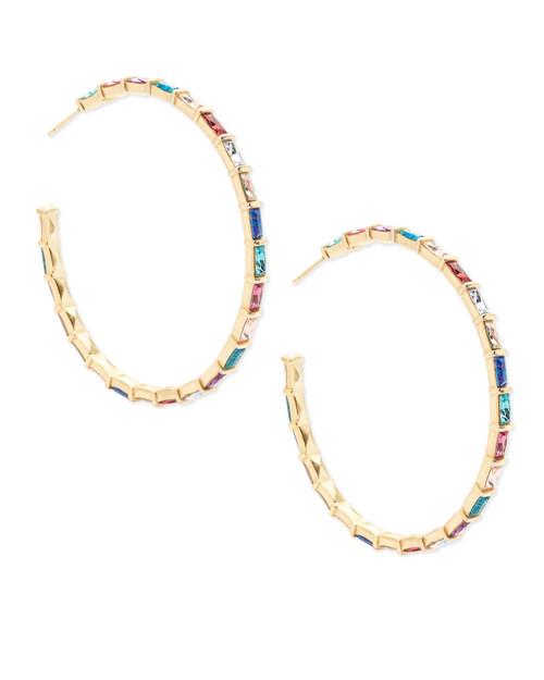 Thora Earring Gold Jewel Tone Mix