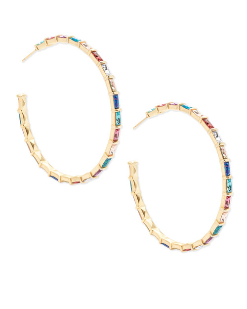 THORA EARRING GOLD JEWEL TONE MIX