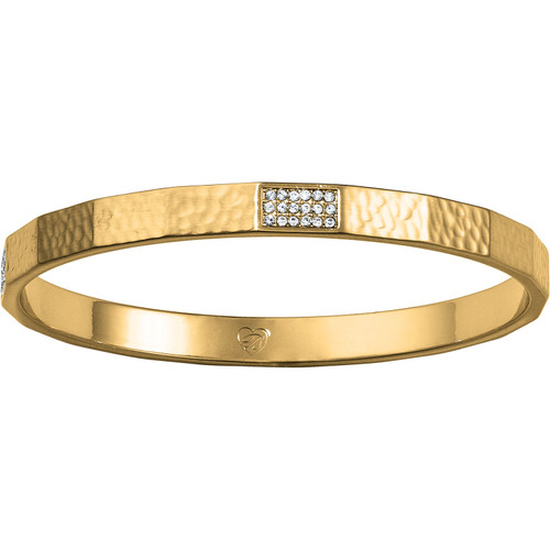 Meridian Zenith Gold Faceted Bangle