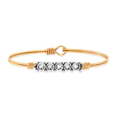 April Brass Birthstone Bracelet