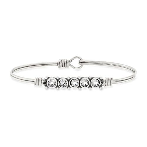 April Silver Petite Birthstone Bracelet