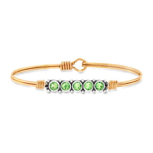 August Brass Birthstone Bracelet