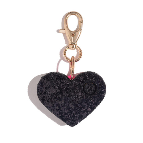 Alarm Heart Black Glitter