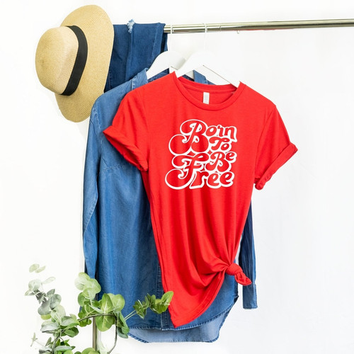 Born To Be Free Red T Shirt