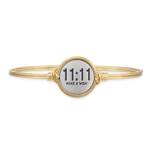 11:11 Make A Wish Brass Bracelet