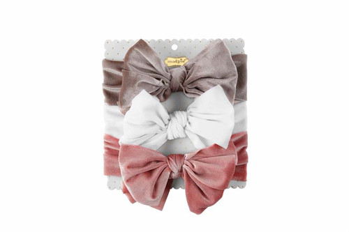 Grey Velvet Headband Set