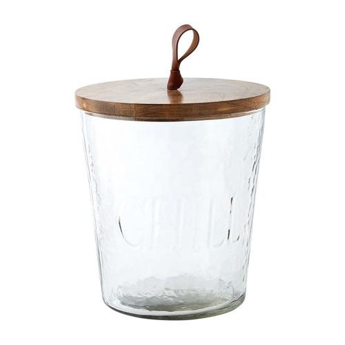 Textured Glass Ice Bucket