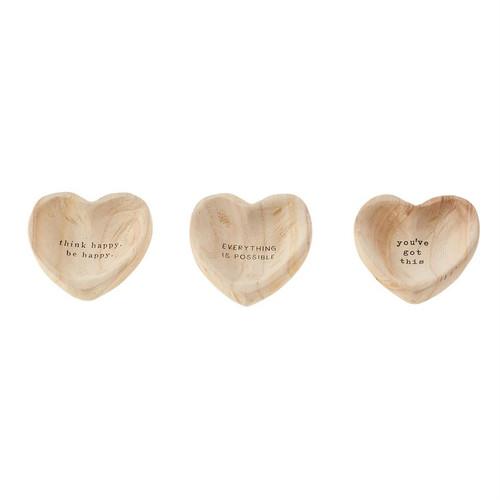 Wood Heart Trinket Tray