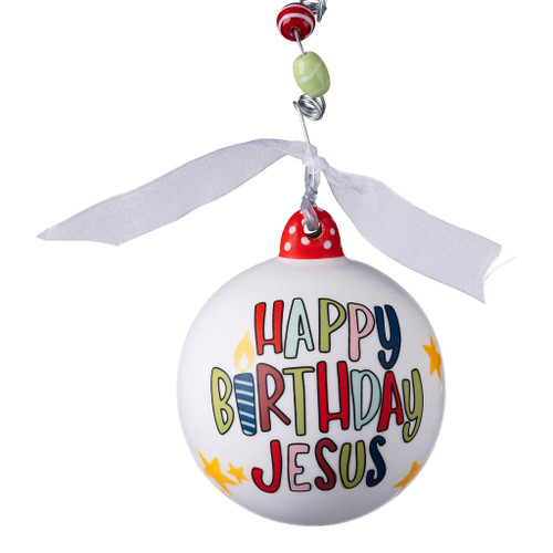 Happy Birthday Jesus Cupcake Ornament