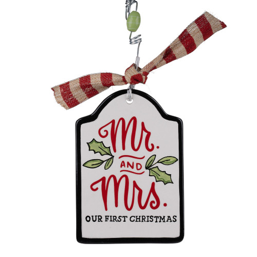 Mr & Mrs Our 1st Christmas Flat Ornament