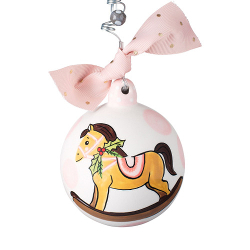 Pink Baby's 1st Rocking Horse Ornament