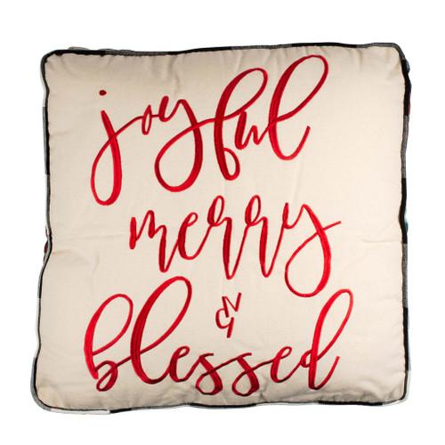 Joyful Merry & Blessed Pillow