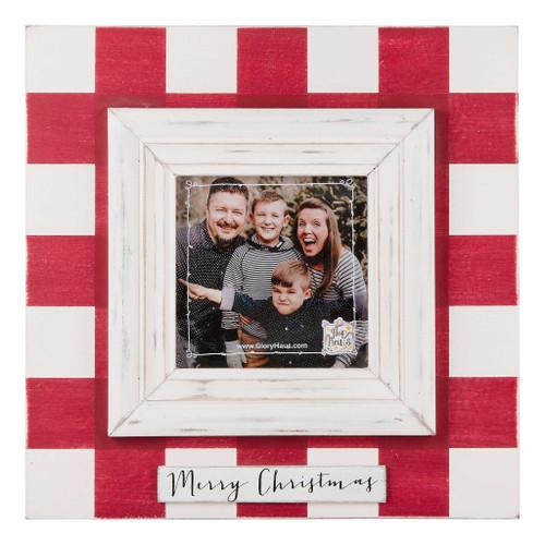 Merry Christmas Red Plaid Frame
