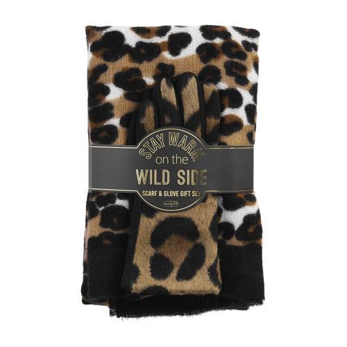 Tan Leopard Gift Set