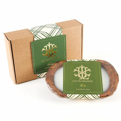 Holiday 3 Wick Dough Bowl Gift Boxed Candle