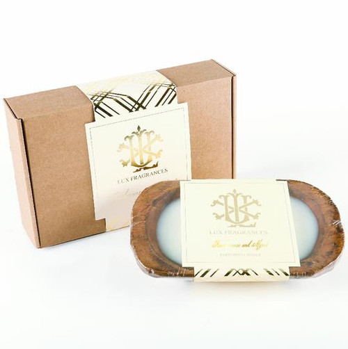 Frankincense & Myrrh 3 Wick Dough Bowl Gift Boxed Candle