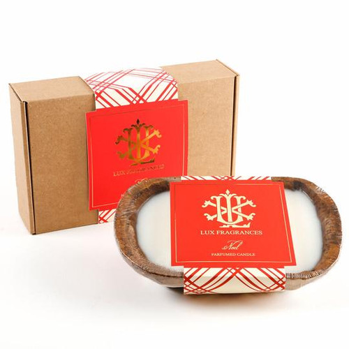 Noel 3 Wick Dough Bowl Gift Boxed Candle