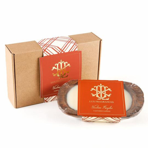 Heirloom Pumpkin 3 Wick Dough Bowl Gift Boxed Candle