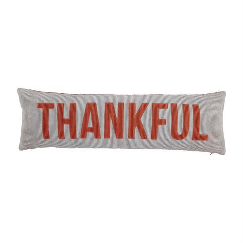 Haunt/Thankful Reversible Long Pillow
