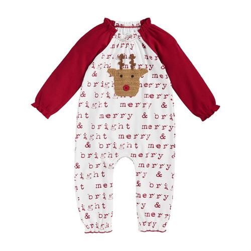 12m Reindeer Girl Crochet 1 Piece