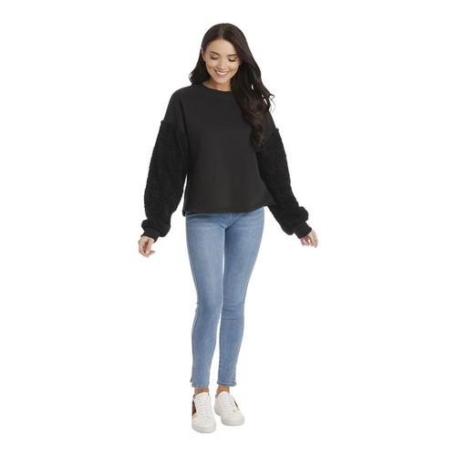 Large Layla Sherpa Black Sweatshirt