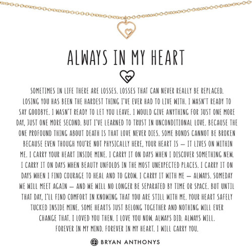 Always in my Heart 14K Gold Necklace