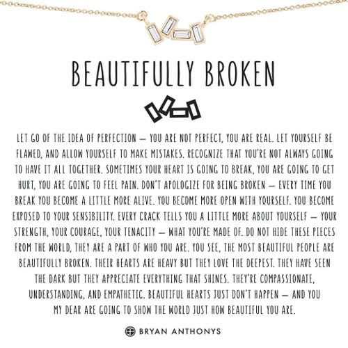 Beautifully Broken 14K Gold Necklace
