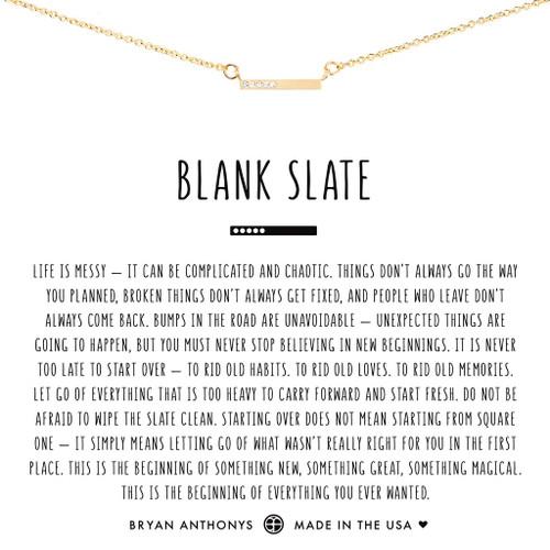 Blank Slate 14K Gold Necklace