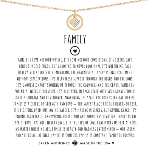 Family 14K Gold Necklace