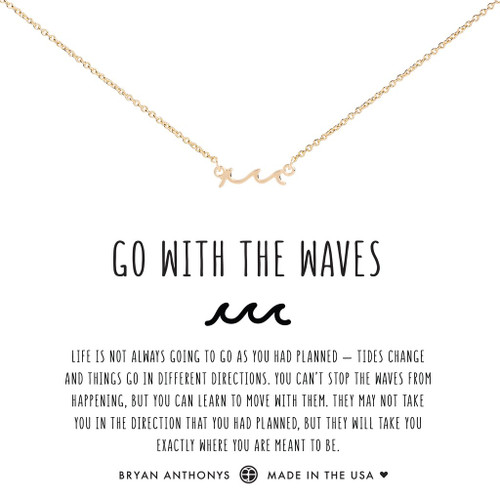 Go With the Waves 14K Gold Necklace