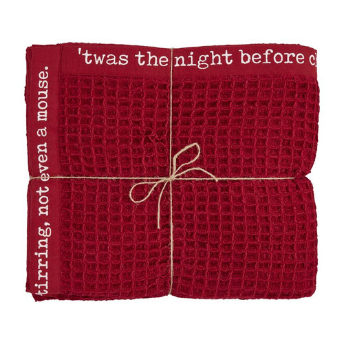 Cranberry Red Waffle Throw