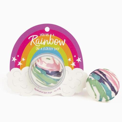 Rainbow Cloudy Day Bath Bomb