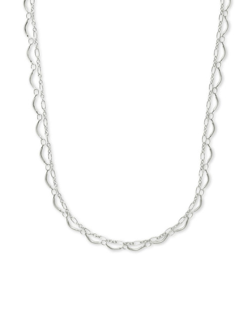 Lori Multi Strand Silver Necklace