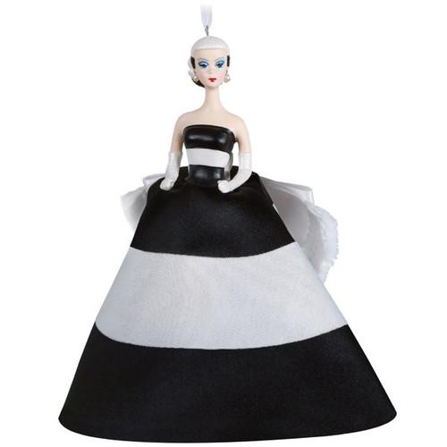 Black and White Forever Barbie Ornament
