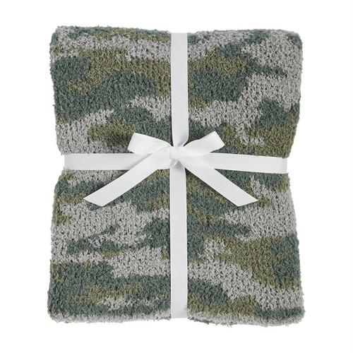 Chenille Camo Blanket