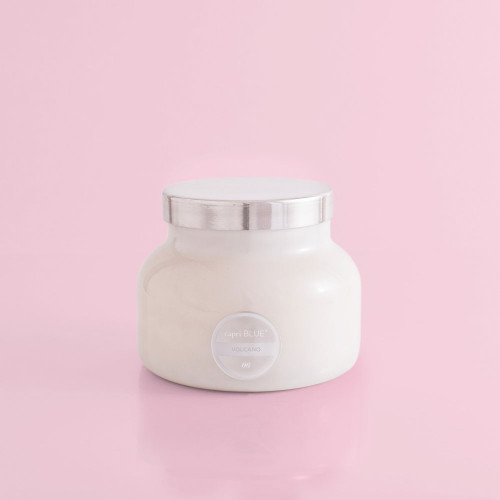 Volcano White Jar Candle