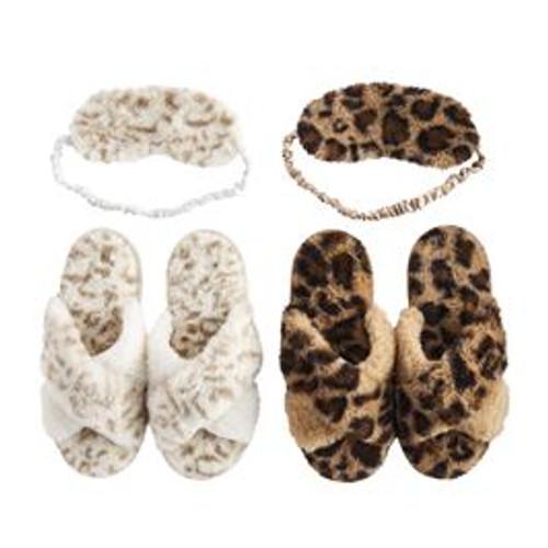 S/MLeopard Slipper Mask Set