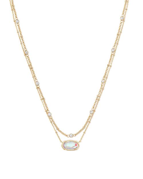 Elisa Gold Dichroic Multi Strand Necklace