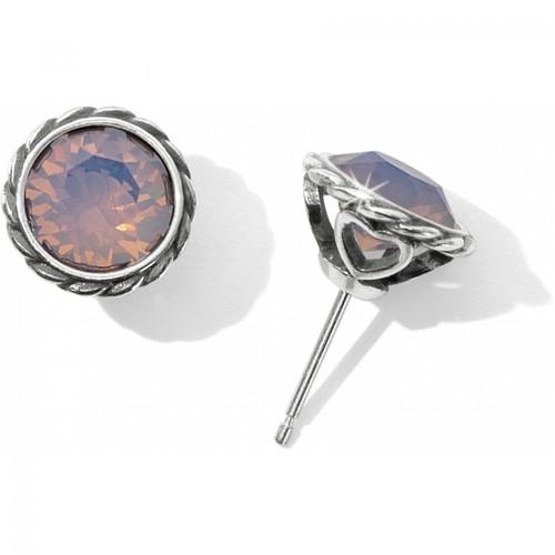 Iris Stud Earrings Rose Opal