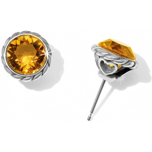 Iris Stud Earring Topaz 2
